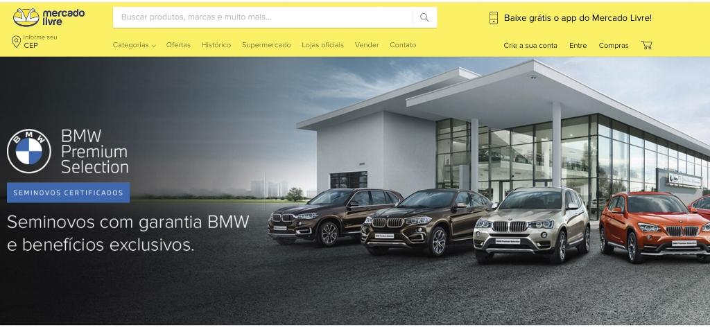 BMW Brasil abre loja oficial de veículos no Mercado Livre