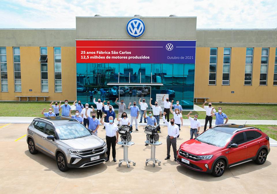 Fábrica de motores da VW completa 25 anos
