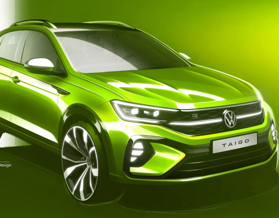 VW mostra primeiro desenho do crossover Taigo