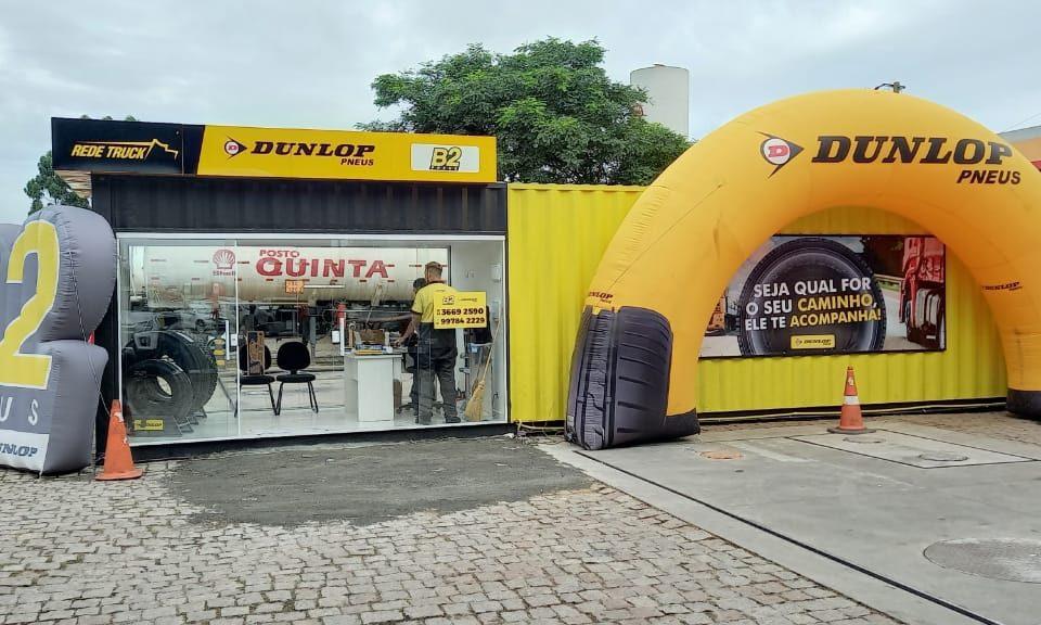 Dunlop vende pneus nos containers pelas estradas brasileiras
