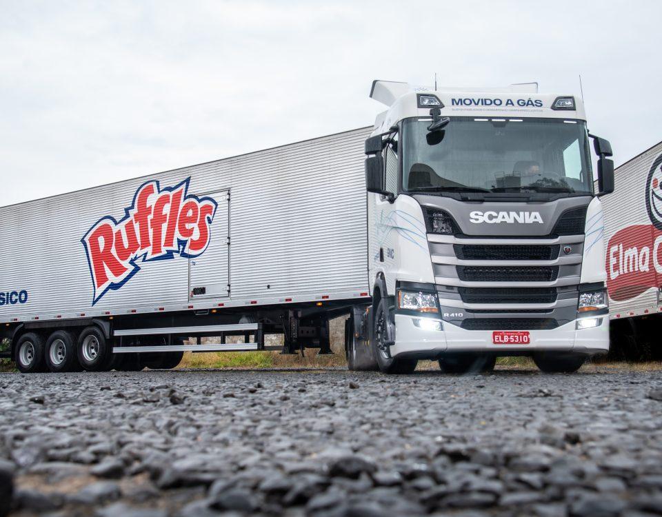 PepsiCo compra caminhões Scania movidos a gás