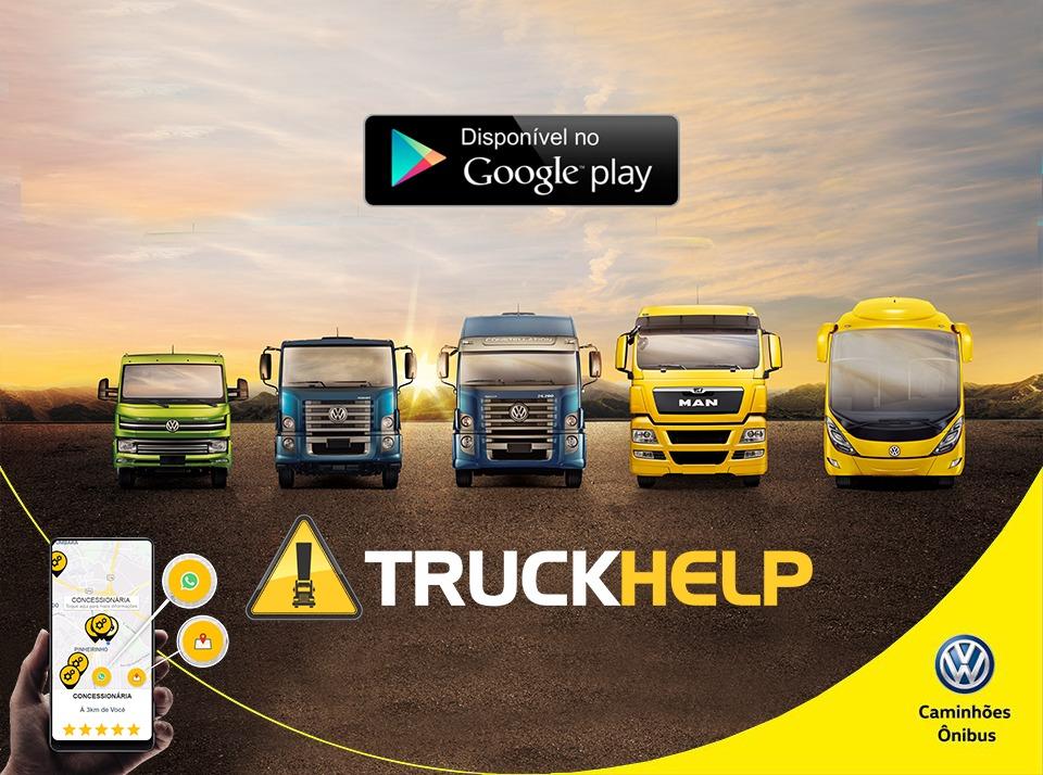 VW Caminhões e Ônibus faz parceria com aplicativo TruckHelp