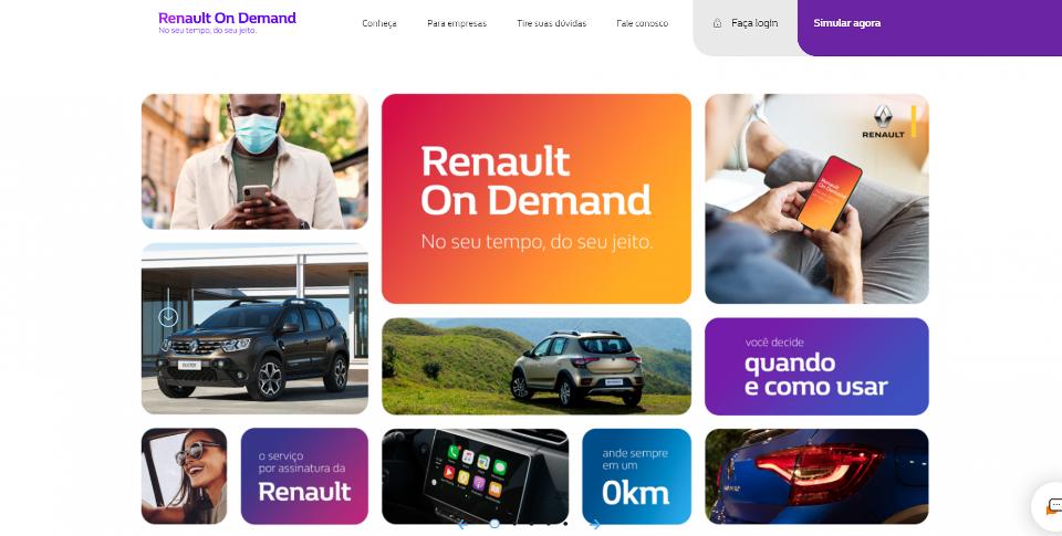 Renault lança carro por assinatura a partir de R$ 869 mensais